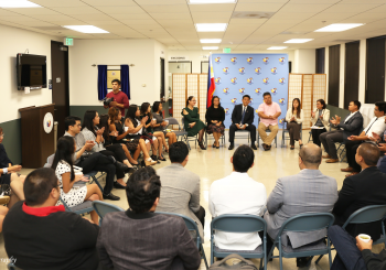 Consul General Cruz meets with Young Fil-Am Leaders