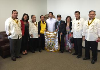 FILIPINO AMERICAN VETERANS VISIT CONSUL GENERAL CRUZ