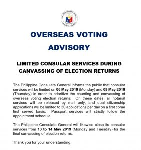 canvassing of elections – Philippine Consulate General Los