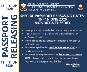 Advisory on the Resumption of the Consulate General's Services
